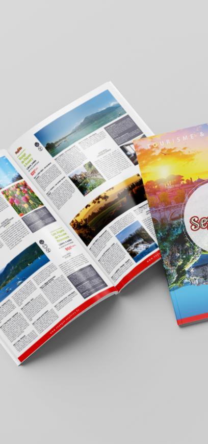 Création d'une brochure de voyages - Seyfritz